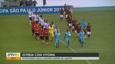 Ferroviária vence a primeira partida da Copinha - O time bateu o Serra (ES) por 3 a 0, na quinta-feira.