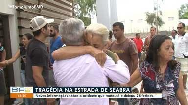 Duas vítimas do acidente em Seabra são transferidas para hospital de Salvador - O acidente matou seis pessoas e deixou 26 feridas.