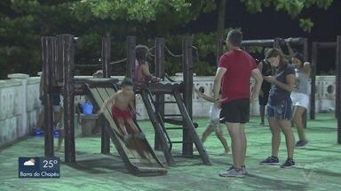Chuvas amenizam calor intenso na Baixada Santista - Termômetros registram temperaturas acima dos 40ºC graus em Santos