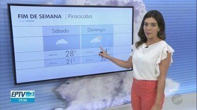 Confira a previsão do tempo para as cidades da região neste sábado - Campinas (SP) registra máxima de 27ºC, com probabilidade de chuva.
