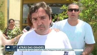 Acusado de agredir violentamente a esposa, Fábio Felippe é levado para o presídio - Filho do presidente da Câmara de Vereadores, ele responde por lesão corporal, pertubação da tranquilidade e ameaça