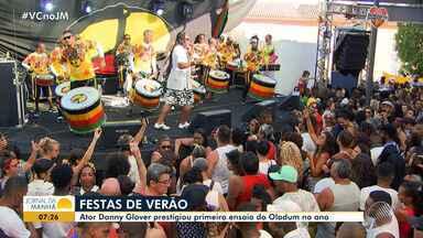 Com Danny Glover na plateia: Olodum anima multidão no 1° ensaio de verão da temporada - Veja como foi a festa em um dos mais tradicionais ensaios do verão baiano.