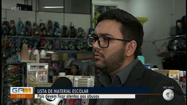 Representante do Prodecon tira dúvidas sobre lista de material escolar - Os pais devem ficar atentos aos possíveis abusos