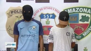 Grupo é apreendido suspeito de assaltar motoristas de aplicativos em Manaus - Em um dos casos, motorista foi atingido por várias facadas.