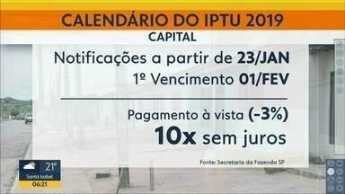 IPTU 2019 tem reajuste de 3,5% na Capital - Quem não for notificado aqté 20 de fevereiro tem que entrar na internet