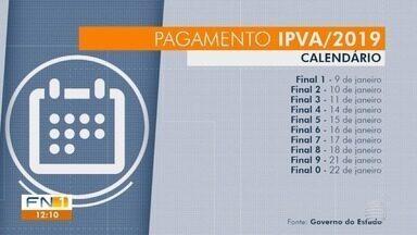 Calendário de pagamento do IPVA tem início nesta quarta-feira - Na região de Presidente Prudente, mais de 22 mil veículos foram notificados por dívidas do período de 2013 a 2018.