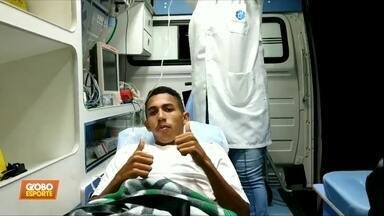 Jogador do Corinthians sofre lesão grave na Copinha - Jogador do Corinthians sofre lesão grave na Copinha