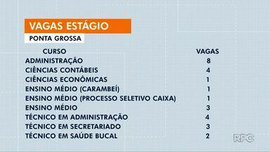 Empresas de Ponta Grossa oferecem vagas de estágio em diversas áreas - As oportunidades estão disponíveis no CIEE (Centro de Integração Empresa-Escola do Paraná).
