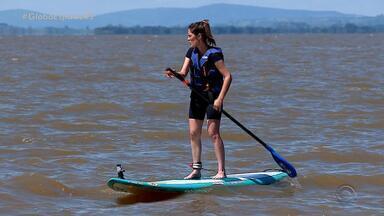 Zona de Verão: conheça e saiba como praticar o stand up paddle em Porto Alegre - Assista ao vídeo.