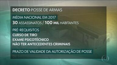 Proposta do novo decreto de posse de armas passa por análise de Jair Bolsonaro - O governo pretende apresentar na próxima semana um decreto para facilitar a posse de armas, uma das promessas de campanha do presidente.