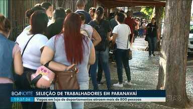 Seleção de emprego em Paranavaí atrai mais de 800 candidatos - As vagas são para uma loja de departamentos, que deve se instalar na cidade ainda no primeiro trimestre de 2019.