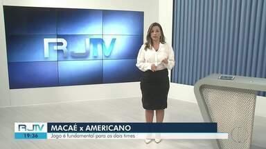 Macaé e Americano se enfrentam em jogo decisivo pelas seletivas do Campeonato Carioca - Assista a seguir.