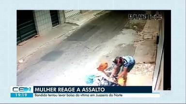 Polícia diz que as pessoas não devem reagir durante assalto - Outras informações no g1.com.br/ce