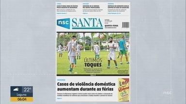 Confira os destaques das capas dos jornais que circulam por SC nesta quinta-feira - Confira os destaques das capas dos jornais que circulam por SC nesta quinta-feira