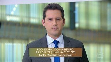 Piso do magistério reajustado em 4,17% - O reajuste foi anunciado pelo Ministério da Educação