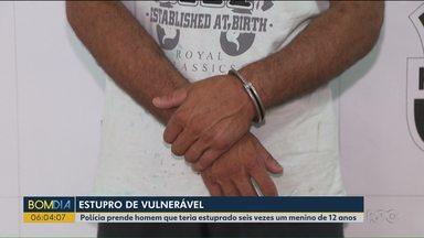 Polícia prende homem que teria estuprado seis vezes um menino de 12 anos - O homem foi preso em Araucária.
