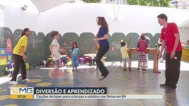 Opções de lazer para crianças e adultos nas férias em BH - Nestas férias as brincadeiras de antigamente estão fazendo a festa das crianças de Belo Horizonte.