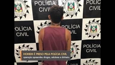Homem é preso por tráfico de drogas em Rio Grande - Ele é considerado um dos maiores traficantes de drogas sintéticas na cidade e na região.