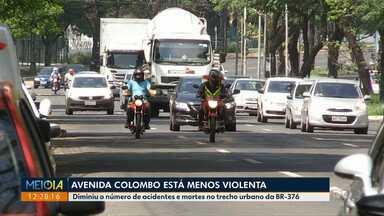 Diminui o número de acidentes na Avenida Colombo - O número de feridos e mortos também diminuiu em 2018.