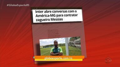 Inter abre conversas com o América-MG para contratar zagueiro Messias - Assista ao vídeo.