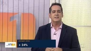 Passagens aéreas têm aumento de 24% em Goiânia, calcula IBGE - Já o valor do litro da gasolina teve uma queda de 4,55%.