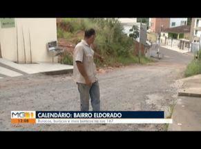 Calendário: Reportagem mostra situação precária de asfalto em Timóteo - Local passou por reformas em 2018.