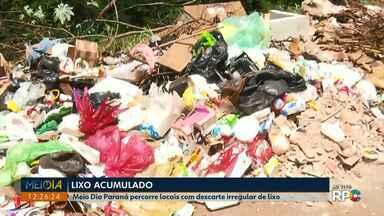 Moradores reclamam de pontos de descarte irregular de lixo em Londrina - As equipes do Meio Dia Paraná percorreram diversos pontos críticos, além de contar com o serviço público, também é preciso consciência ambiental por parte da população.