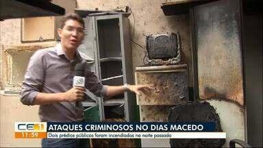 Bandidos atacam centro comunitário e uma rádio no Dias Macêdo - Confira outras notícias no g1.globo/ce