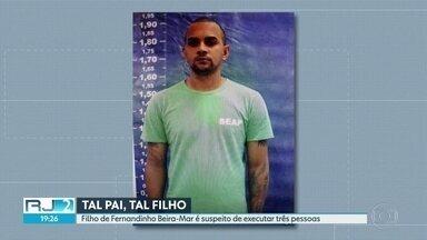 Filho de Fernandinho Beira-Mar é suspeito de executar três pessoas - Os crimes aconteceram no primeiro dia do ano em Duque de Caxias. Marcelo Fernando de Sá Costa foi preso por porte ilegal de arma e por dirigir um carro roubado.