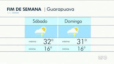 Fim de semana será de pancadas de chuvas em Guarapuava - O sol pode aparecer entre nuvens e as temperaturas ficam altas.
