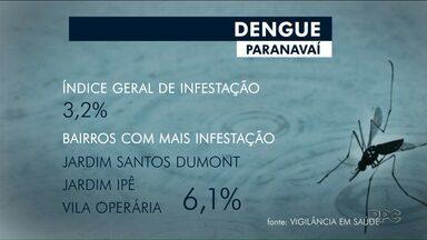 Lira aponta 3,2% de infestação do mosquito da dengue em Paranavaí - A cada 100 casas visitadas, em três foram encontradas larvas do mosquito.