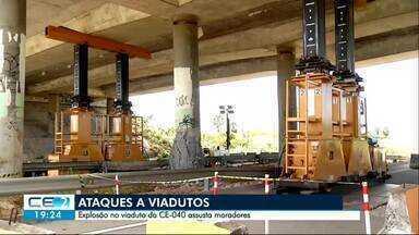 Moradores relatam tensão com ataques a viadutos em Fortaleza - Um deles foi atacado em Messejana, na CE-040
