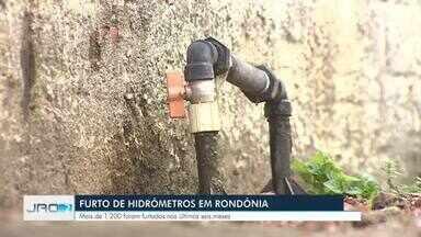 Furto de hidrômetros em Rondônia - Mais de 1200 foram furtados nos últimos seis meses.