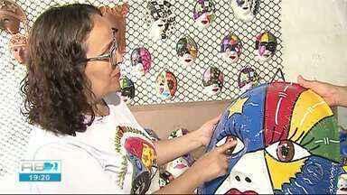 Artesãos de Bezerros já começam a se preparar para o Carnaval - Máscaras de papangus já estão preparando as máscaras