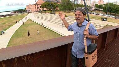 Neto Fagundes passeia pela Orla do Guaíba no De Mala e Cuia - Assista ao vídeo.