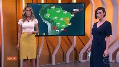 Previsão alerta para risco de temporal em Mato Grosso do Sul nesta sexta (18) - Meteorologia alerta para chuva forte em São Paulo.