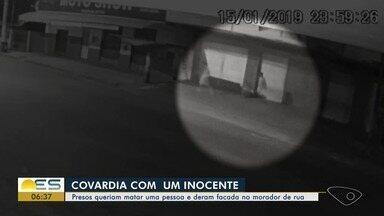 Suspeitos de matar morador de rua no ES são presos - Fabiano Dell Sales, de 32 anos, mais conhecido como Paçoquinha, dormia quando levou um golpe de faca na cabeça. Família contou que ele passou a viver nas ruas depois que pai morreu.