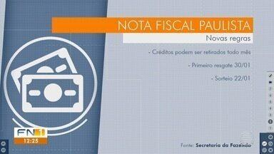 Nota Fiscal Paulista passa por mudanças - Contribuintes poderão retirar os créditos todos os meses.