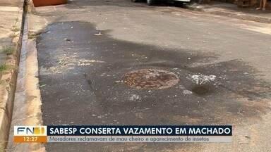 Mau cheiro provoca transtornos a moradores de Álvares Machado - Problema ocorre na Rua Campos Sales.