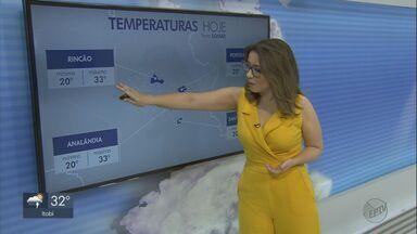 Veja como fica o tempo no fim de semana na região - Os termômetros marcam máxima de 34 graus, mas a sensação térmica é maior.