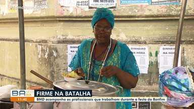 Comerciantes aproveitam a Lavagem do Bonfim para ganhar dinheiro - A reportagem acompanhou o trabalho de alguns comerciantes durante a festa.