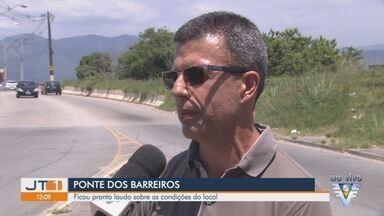 Laudo sobre Ponte dos Barreiros, em São Vicente, é divulgado nesta sexta-feira (18) - Desde o final de dezembro caminhões estavam proibidos de passar pela ponte devido às condições do local.