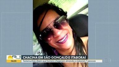 Chacina deixa 7 pessoas mortas em São Gonçalo e Itaboraí - Testemunhas contaram que homens encapuzados chegaram atirando na madrugada de segunda-feira (21), sete pessoas morreram e 4 ficaram feridas.