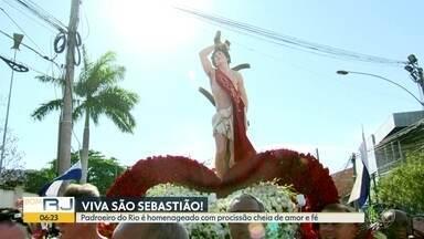 Viva São Sebastião - Padroeiro do Rio é homenageado com procissão cheia de amor e fé.