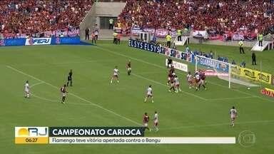 Começa o Campeonato Carioca - Flamengo ganhou de 2x1 do Bangu no sufoco. Cabofriense levou a melhor contra o Botafogo, 3x1. Fluminense e Vasco ganharam de Volta Redonda e Madureira por 1x0.