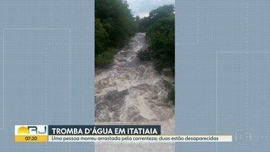 Uma pessoa morreu durante uma tromba d'água em Itatiaia - Duas pessoas continuam desaparecidas.