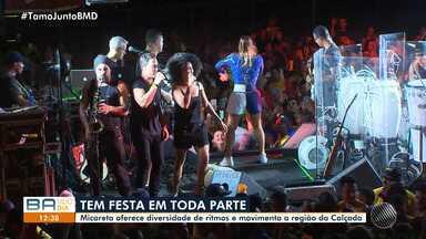 Micareta oferece diversidade de ritmos e anima público na região da Calçada, em Salvador - Lincoln Senna, Gustavo Lima e Claudia Leitte cantaram na festa.