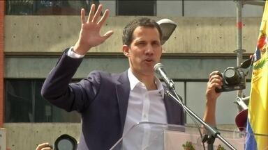 Oposição da Venezuela conquista mais apoio internacional - Crise na Venezuela se aproximou nesta quarta-feira (23) de uma ruptura. Juan Guaidó, presidente da Assembleia Nacional e uma das principais lideranças da oposição, se declarou presidente interino.