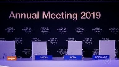 Entrevista coletiva de Bolsonaro e ministros em Davos é cancelada na última hora - No terceiro dia do Fórum Econômico Mundial, o presidente teve uma série de encontros com chefes de governo e empresários.