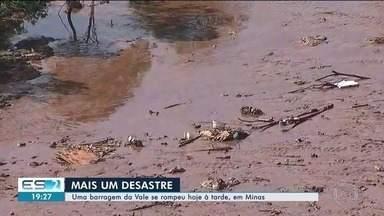 Lama de rejeitos da Vale não vai chegar ao Espírito Santo, diz especialista - Imagens aéreas mostram o antes e o depois da destruição causada pela invasão da lama em Minas Gerais.